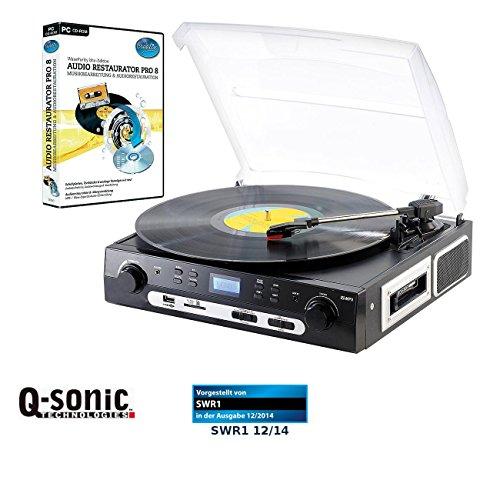 Q-Sonic Plattenspieler und MC-Digitalisierer