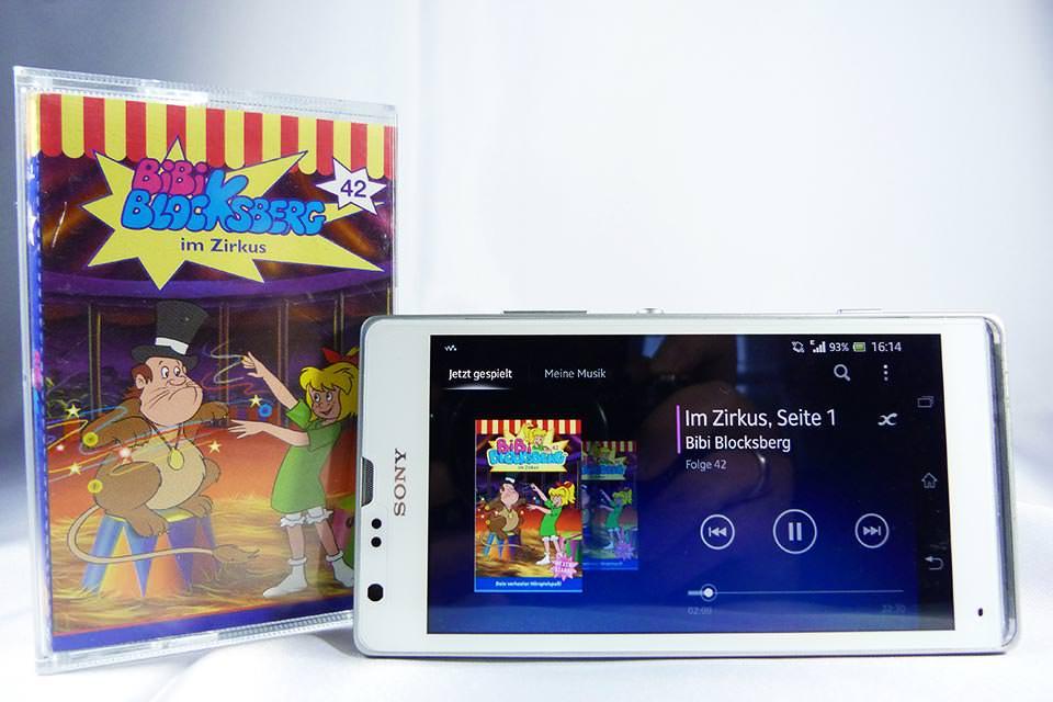 Hörspielkassette als MP3 auf dem Smartphone