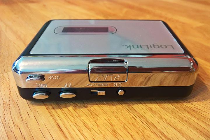 Bedienelemente am USB-Kassettenspieler