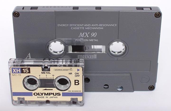 Microkassette Größenvergleich