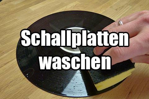 Schallplatten mit der Hand waschen