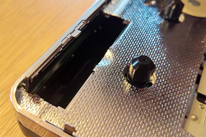 Batteriefach am USB-Kassettenspieler