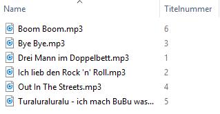 Einfach benannte Dateien