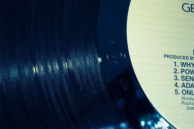Detailaufnahme einer LP